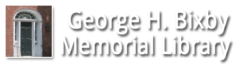 George Holmes Bixby Memorial Library logo